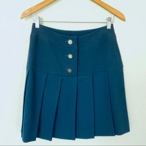 Vintage Chanel Navy Pleated Skirt Sz 34